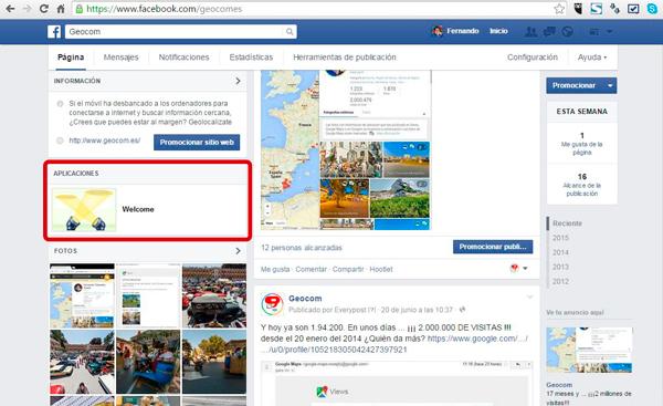 Como insertar la visita virtual de Google en Facebook