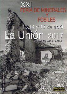 Cartel de la XXI Feria de minerales y fosiles de La Union